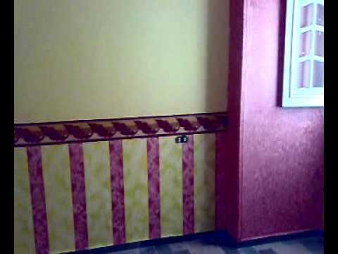 : طريقة دهانات حوائط سبونش : حوائط
