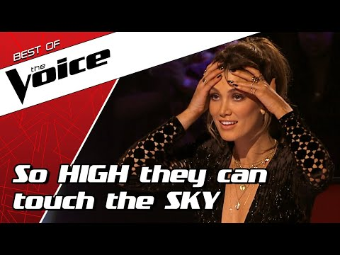 TOP 10 | Stunning HIGH NOTES in The Voice that are out of this world!