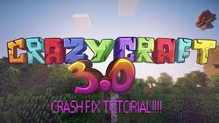 How to fix Crazy Craft 3.0 world loading crashing | ( Tutorial )