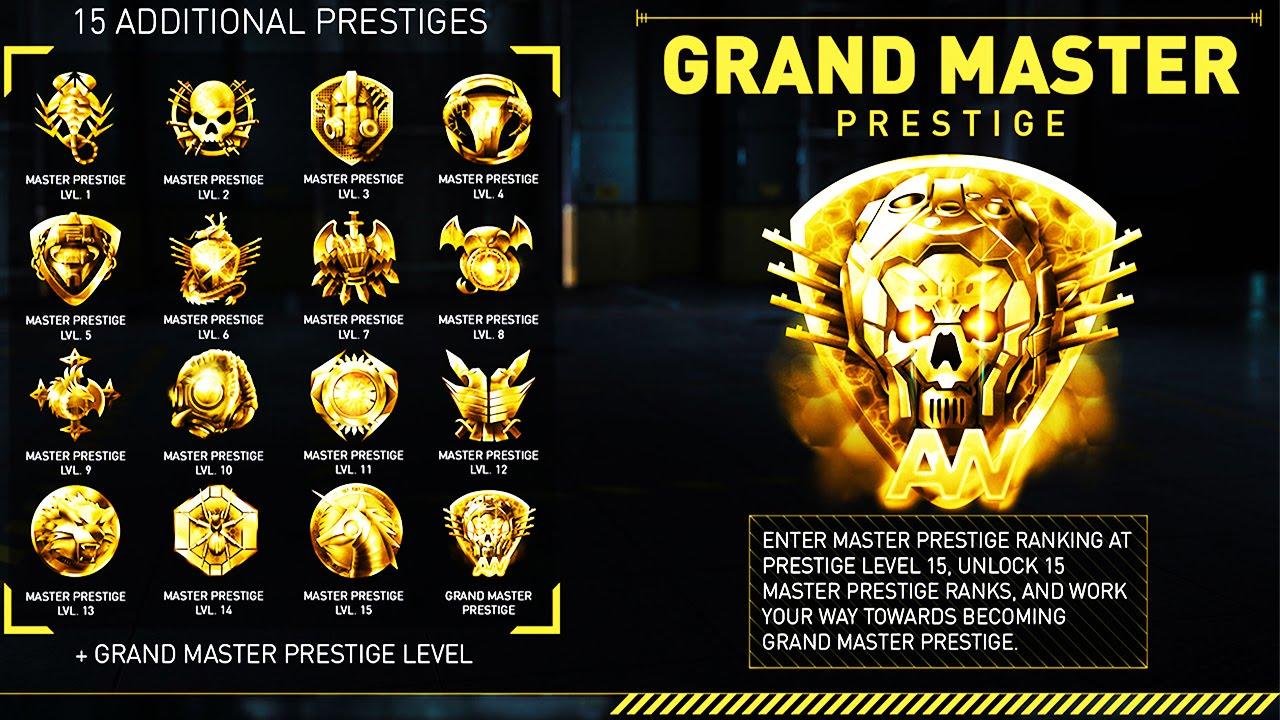 15 New Prestiges Unlock Elite Guns Each Prestige Grand Master Prestige Update