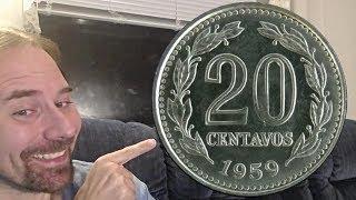 Argentina 20 Centavos 1959 Coin
