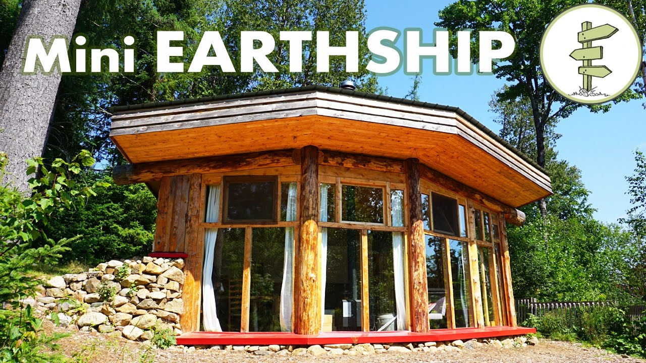 Incredible Mini Earthship Style Cabin Tiny Off Grid