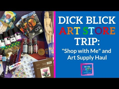 Dick Blick Art Store - Shop With Me & Art Supply Haul
