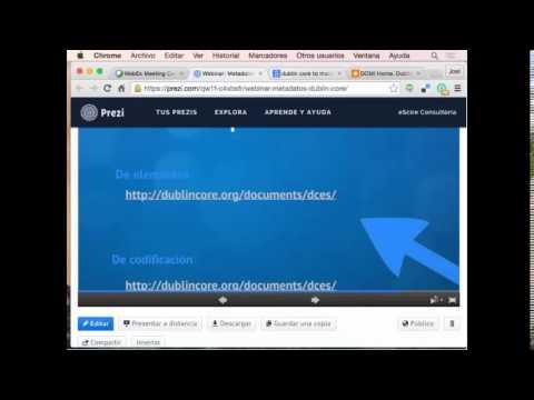 Webinar AMBAC & eScire- Introducción y conceptos básicos sobre Dublin Core
