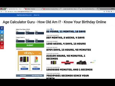 Age Calculator Guru - How Old Am I? - Know Your Birthday