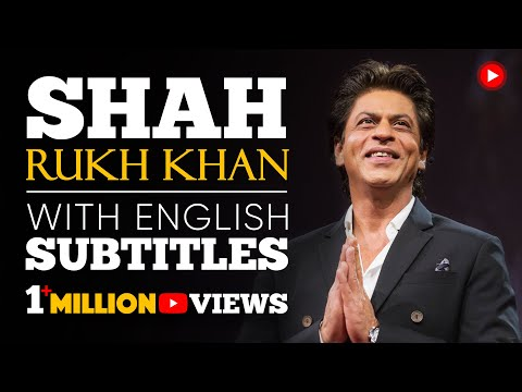 ENGLISH SPEECH | SHAH RUKH KHAN: Freedom to Be Yourself (English Subtitles)