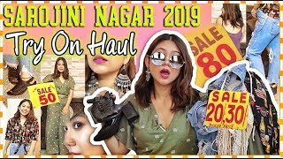 *NEW* SAROJINI NAGAR TRY ON HAUL | Tops, Jeans & Jewellery for Rs.50 | ThatQuirkyMiss