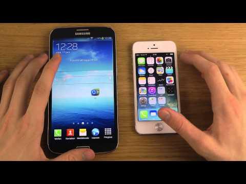 Samsung Galaxy Mega 6.3 vs. iPhone 5 iOS 7 - Review
