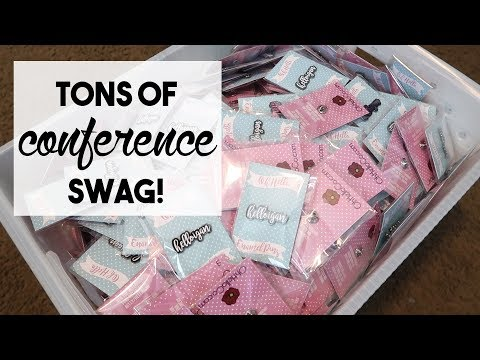 Tons Of Conference Swag  February 7, 2018