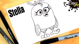 Cómo dibujar a Stella PAR 1 / how to draw Stella/ Angry Birds Movie 2016
