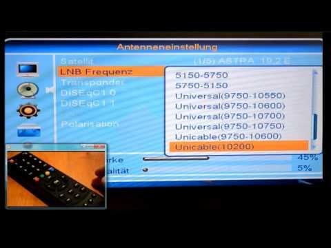 Frequenzeinstellung HD-Receiver
