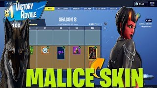 Fortnite Season 8 How To Get FREE MALICE SKIN! Free Fortnite DEVIL SKIN to Subscribers LIVE!
