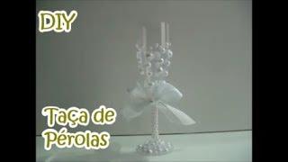 Ideias para festas e aniversários – Taça de pérolas DIY