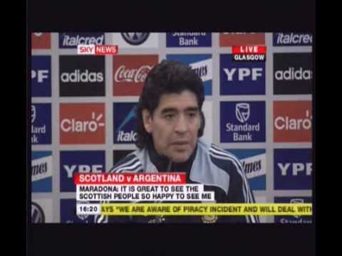 "Maradona comments on his ""hand of God"" and England being knocked out of the World Cup"