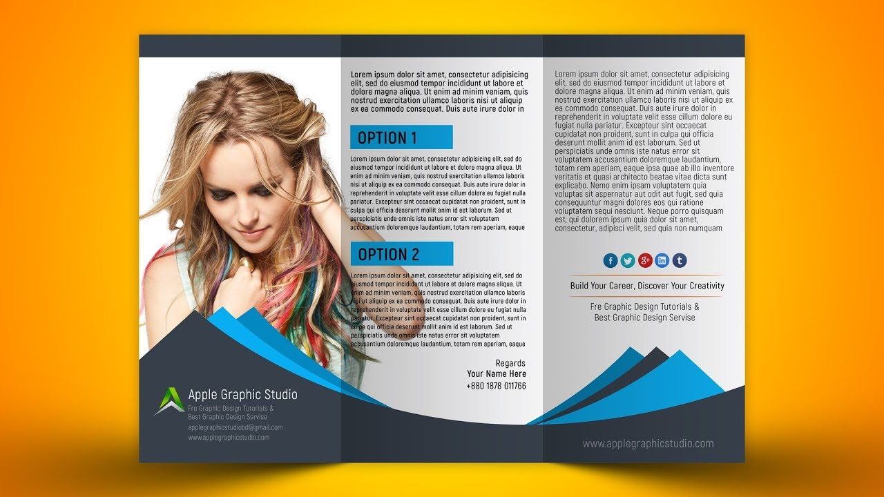 How to Design Trifold Brochure - Photoshop CC 2018 Tutorial