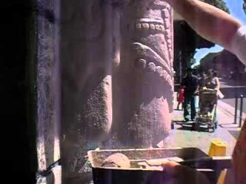 Efecto de piedra mezcla con la pintura youtube for Pintura efecto piedra