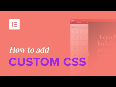 How To Add Custom CSS To WordPress With Elementor
