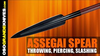 Cold Steel Assegai Spear Testing Thrusting-Throwing-Slashing | OsoGrandeKnives
