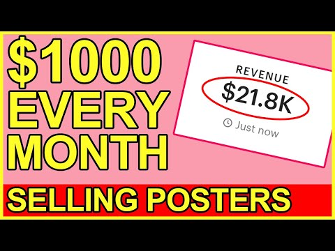 SELL POSTERS ONLINE: $1,000/MONTH COMPLETE GUIDE!