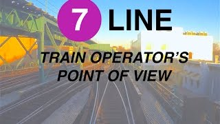 ⁴ᴷ NYC Subway Train Operator's Point of View - The Queens-bound 7 Line