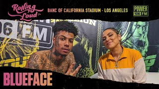 Blueface Got Out Of A Bad Stage Dive At Rolling Loud