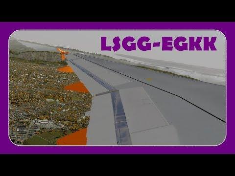 [P3DV4.1] EZY19HR   Geneva-Gatwick   Fslabs A320!   Busy Gatwick Arrival  