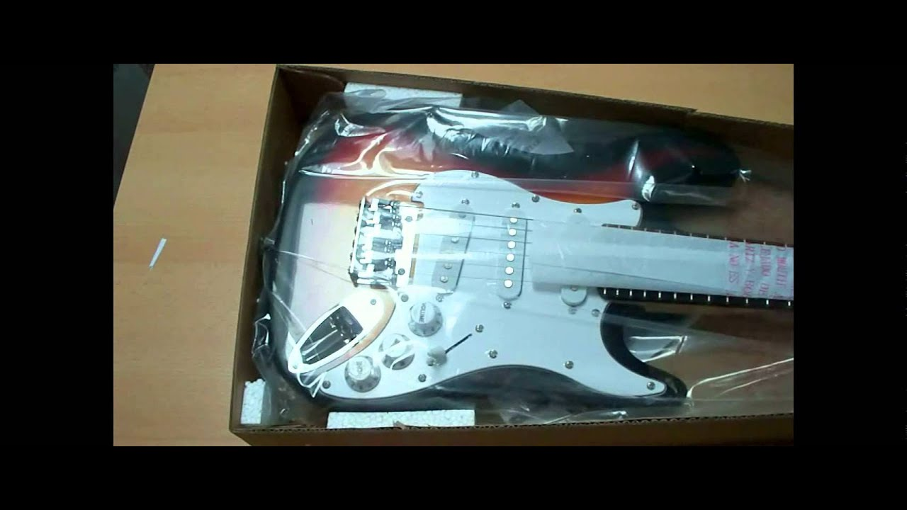 burswood 3 4 electric guitar for kids youtube. Black Bedroom Furniture Sets. Home Design Ideas