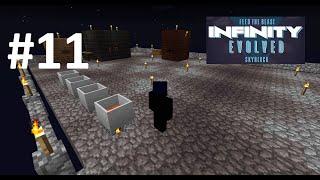 FTB Infinity Evolved Skyblock: #11 Generator, Auto-Hammer & Sieve!