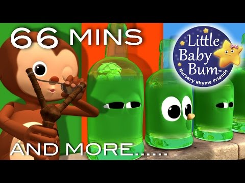 Ten Green Bottles | Plus Lots More Nursery Rhymes | 66 Minutes Compilation from LittleBabyBum!