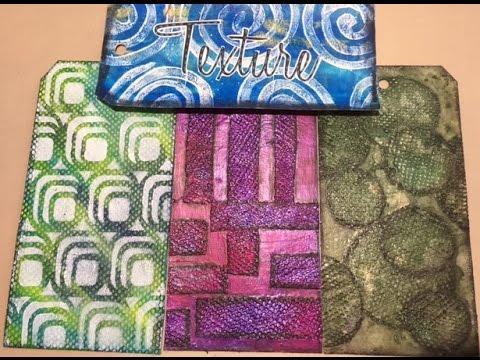 Mixed Media Technique Tag # 3 - Paper Towel for Texture