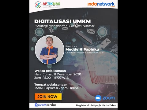 Dokumentasi Digitalisasi UMKM - Strategi hadapi era New Normal - 11 DES 2020