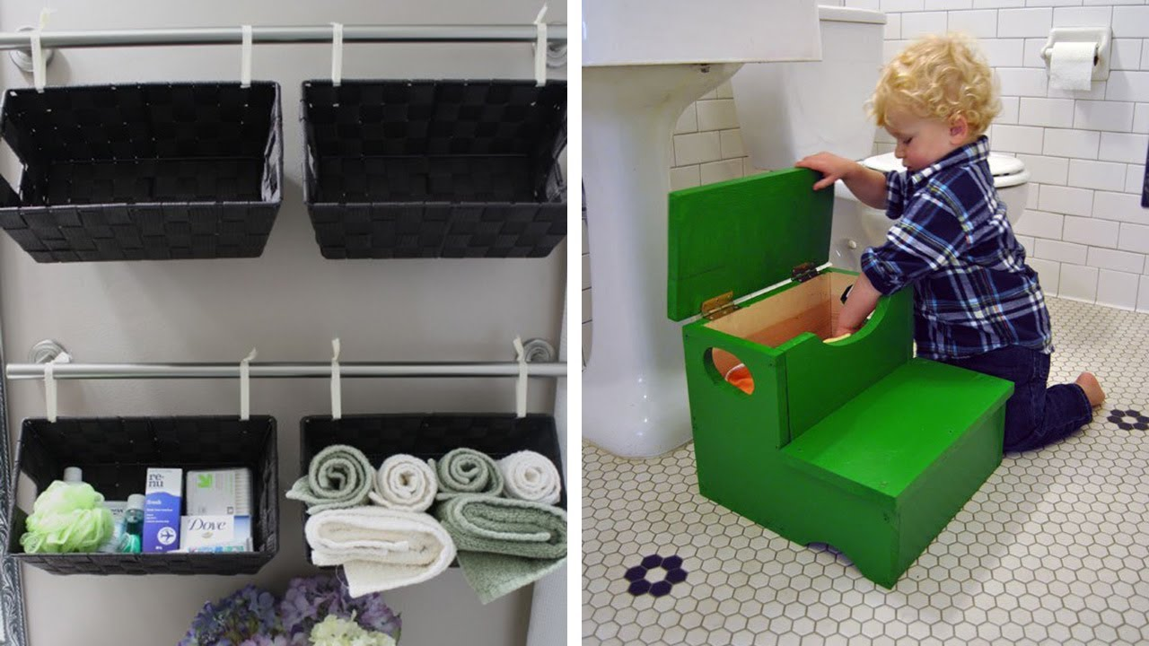 41 Bathroom Storage Hacks And Solutions That Will Make Getting Ready So Much Easier Youtube