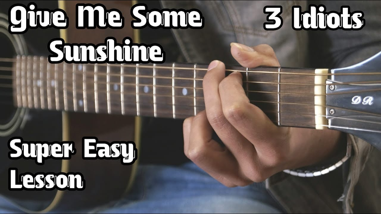 Give Me Some Sunshine | 3 Idiots | Basic Guitar Lesson For Beginners | Heartbeat Strumming | Guitar