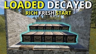 LOADED DECAYED BASE TOOK US FROM ROCK TO RICHES ON A FRESH START! - Rust Survival Gameplay 1/2