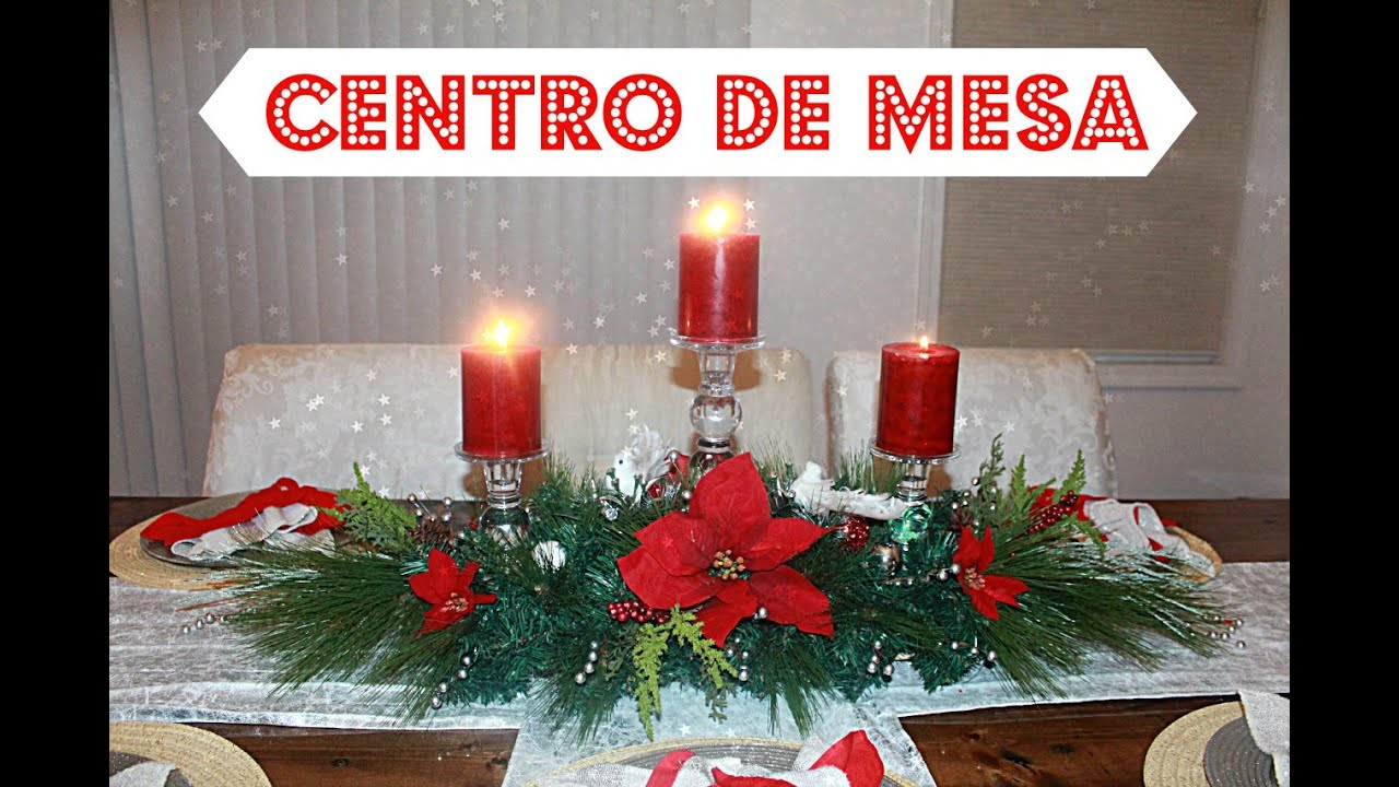 How to do a christmas centerpiece diy centro de mesa para for Como hacer centros de mesa para navidad