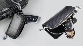 BMW 포르쉐 외제차 차량용 키홀더 키지갑 리얼 카본 …
