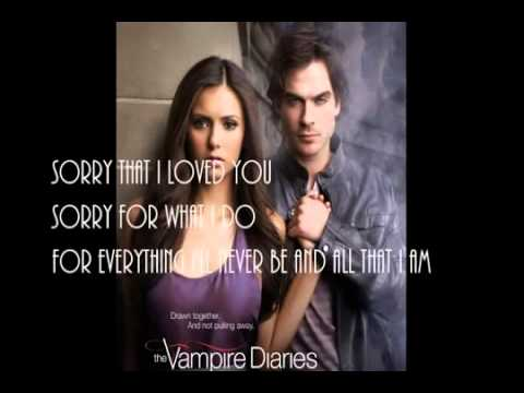 Sorry that I Love You   The Vampire Diaries   Clooney   6x01 Promo Lyrics on Screen