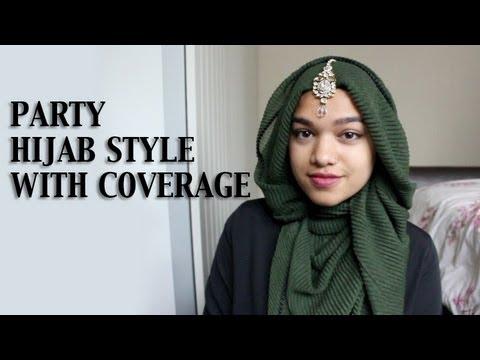 Tutorial hijab jasmine style dress