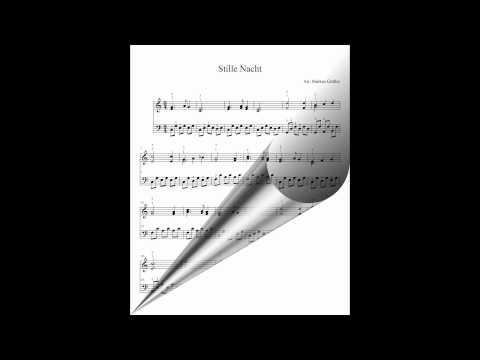 Weihnachtslieder-deutsch-Stille Nacht-Klaviernoten-Klavier lernen-Klaviermusik