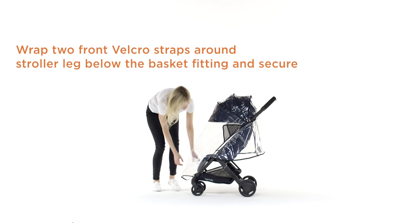 How Do I Install The Ergobaby Metro Stroller Weather Shield