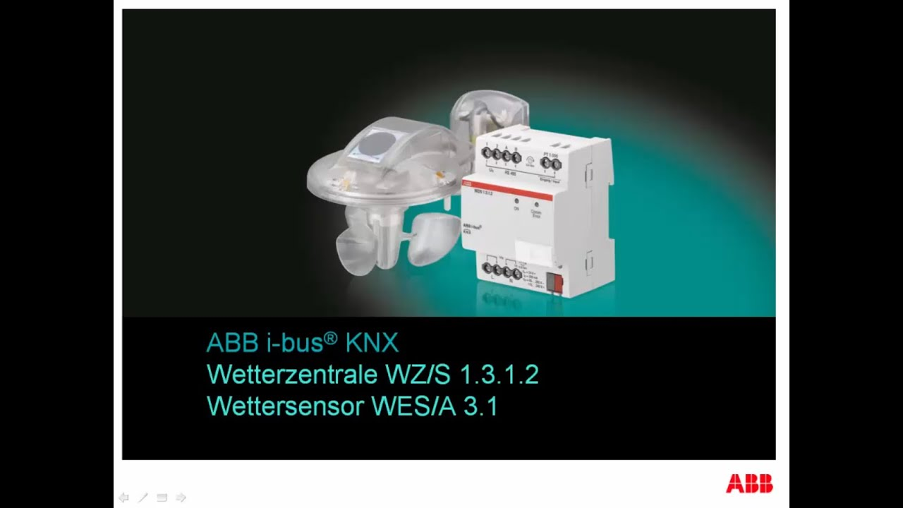 abb i bus knx tutorial zur wetterzentrale wz s 1 3 1 2 youtube. Black Bedroom Furniture Sets. Home Design Ideas