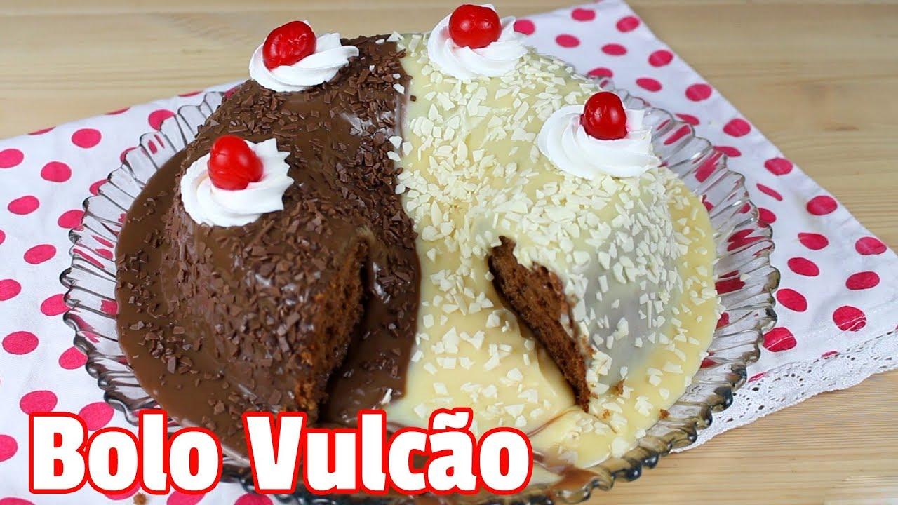 Populares Bolo Vulcão   Como Fazer Bolo Vulcão Dois Amores   Cakepedia - YouTube FH57