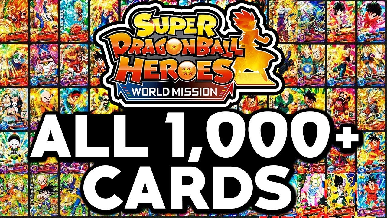 Super Dragon Ball Heroes World Mission All 1 000 Cards List Character List Youtube