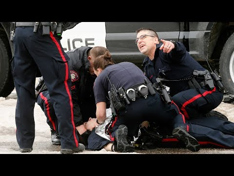 Raw Video: Calgary police officer injured