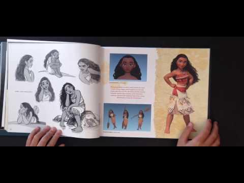 The Art of Moana - Quick Flip through & review - Disney / Pixar. Oscar Best Animation