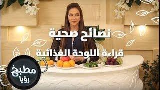 قراءة اللوحة الغذائية - رند الديسي