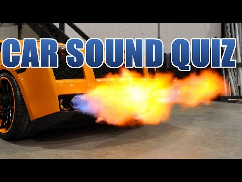 Car Sound Quiz - Can you guess them all?