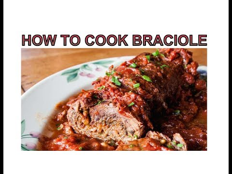 HOW TO COOK BRACIOLE WHILE LIVE STREAMING ON YOU TUBE!