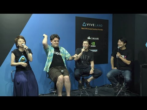 Palmer Luckey speaking at Vive Stage At Tokyo Game Show @TGS2017 VIVE