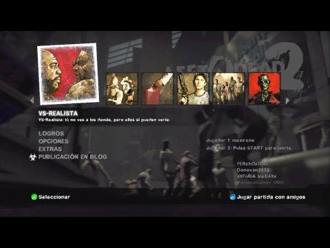 Left 4 Dead 2 XBOX 360 - En Directo #LIVE CONSEJOS GUIA Dark Carnival No Mercy Versus Realista 3